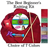 The Best Beginner's Knitting Kit (Forest Green)
