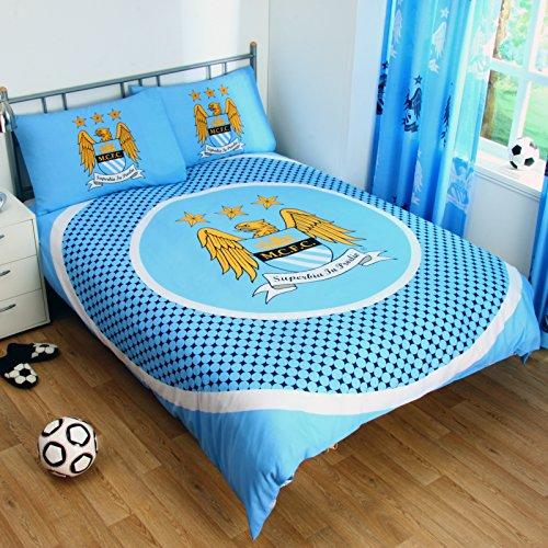 Official Football Merchandise - Set di copri-piumino e federa con stemma originale della squadra (a scelta) In confezione originale.