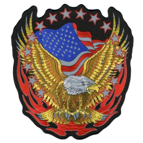 Hot Leathers Reflective Eagle Patch (12