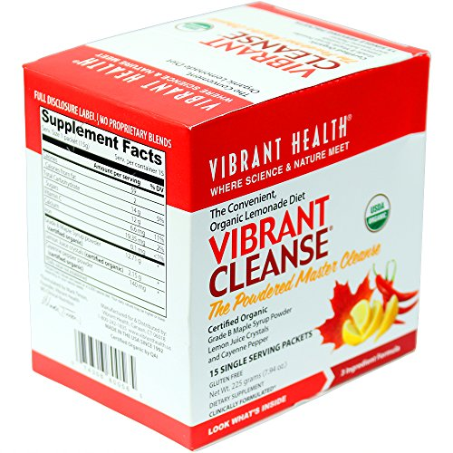 Vibrant Health - Vibrant Cleanse Single Servings, The Convenient Organic Lemonade Diet, 15 packets (FFP) (Master Cleanse Tea compare prices)