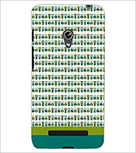 PrintDhaba Owl pattern D-1863 Back Case Cover for ASUS ZENFONE 5 A501CG (Multi-Coloured)