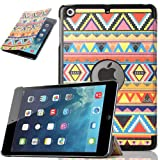 ULAK PU Leather Case for Apple iPad Mini and the New iPad Mini 2 with Retina Display(2nd Generation)Slim-Fit Smart Case Cover with Auto Sleep/Wake Function (PLAY)