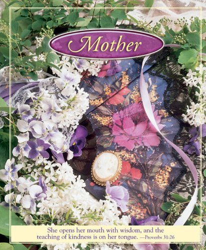 Mother's Day Flowers and Fan Bulletin 2010, Large Size (Package of 50): She opens her mouth with wisdom and the teaching of kindness is on her tongue.     -Proverbs 31:26