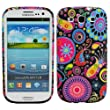 Fosmon TPU Protective Skin Case for the Samsung Galaxy S3 / S III - Black with Colorful Jellyfish Design