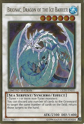 Yu-Gi-Oh! - Brionac, Dragon of the Ice Barrier (GLD5-EN031) - Gold Series: Haunted Mine - Limited Edition - Gold Rare (Yugioh Ice Dragon compare prices)