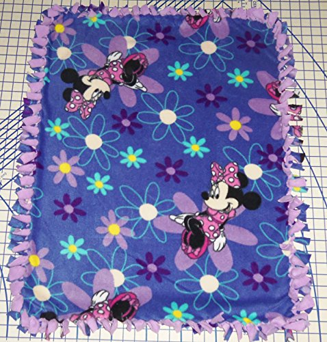 Disney Minnie Mouse Blue Purple Fleece Baby Blanket Hand Tied Pet Lap Shower Gift New front-630060