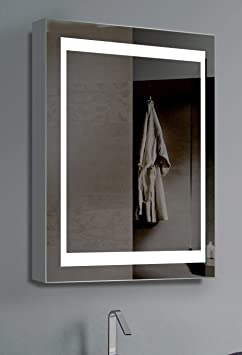 "Innoci-USA 69402026 Electric Mirror Vanity Cabinet, Lights on Each Side with Steel Back Frame & 50,000 Hour LED Bulb Life, 26"" H x 20"" W"