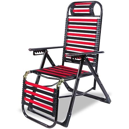 HWF Tumbonas Silla de la salud Siesta Cubierta plegable al aire libre Oficina Verano Sillas frescas Cama de la playa de Sandy