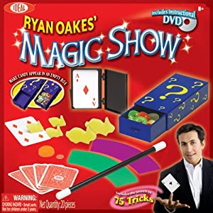 POOF-Slinky - Ideal Ryan Oakes' 25-Trick Magic Show with Magic Candy Box and Instructional DVD, 0C325
