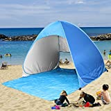 Kany Portable Outdoor Automatic Pop Up Instant Quick Cabana Beach Tent Sun Shelter Canopy Sun Shade Sport Shelter Family Kids Baby Outdoor Camping Fishing Picnic Hiking