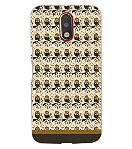 PrintDhaba Owl Pattern D-1678 Back Case Cover for MOTOROLA MOTO G4 (Multi-Coloured)