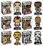 Funko POP! Star Wars Episode VII: Rey + Finn + Poe Dameron + C-3PO + Chewbacca +Captain Phasma - Vinyl Bobble-Head Figure Set NEW