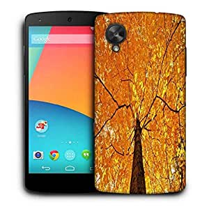Snoogg Yellow Leaf Tree Printed Protective Phone Back Case Cover For LG Google Nexus 5