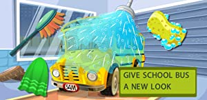 School Bus Car Wash-Funny Cleaning&Good Kid
