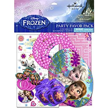Party Favor Value Pack has 48 favors: (6 favors each for 8 guests.) This is an officially licensed Disney product.