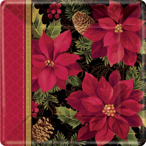 Christmas Holiday Enchantment - Square Dessert Plates Party Accessory