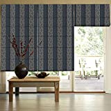 Presto Bazaar Black Jacquard Window Blind (96 Inch X 44 Inch)