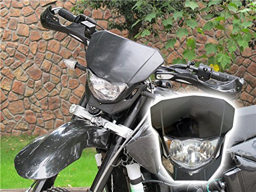 35W Black Off Road Dirt Bike Enduro MX Supermoto Headlight For Suzuki RM RMX RMZ Honda CRF50F CRF Kawasaki KX LKX KTM EXC XC MXC 250 (Dirt Bike Headlight compare prices)