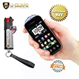 Cell Phone Stun Gun Pepper Spray Keychain Self Defense Weapons Kit. 1) Small Taser To Look Like A Samsung Smart Phone. 1) Mini Non-Lethal Police Defence Spray. Best Protection Tools For Men Or Women.
