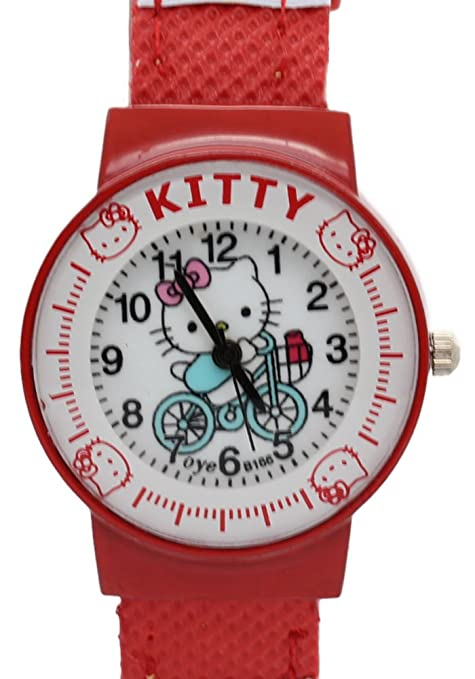 TimerMall Cycling Red Hello Kitty Watch