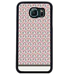 PrintDhaba Skull pattern D-1952 Back Case Cover for SAMSUNG GALAXY S6 EDGE (Multi-Coloured)
