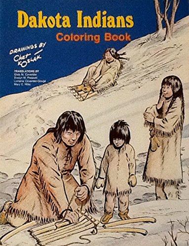 Dakota Indians Colouring Book