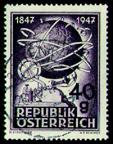 Briefmarken Österreich Nr. 837 gestempelt 100 Jahre Telegrafie 1947