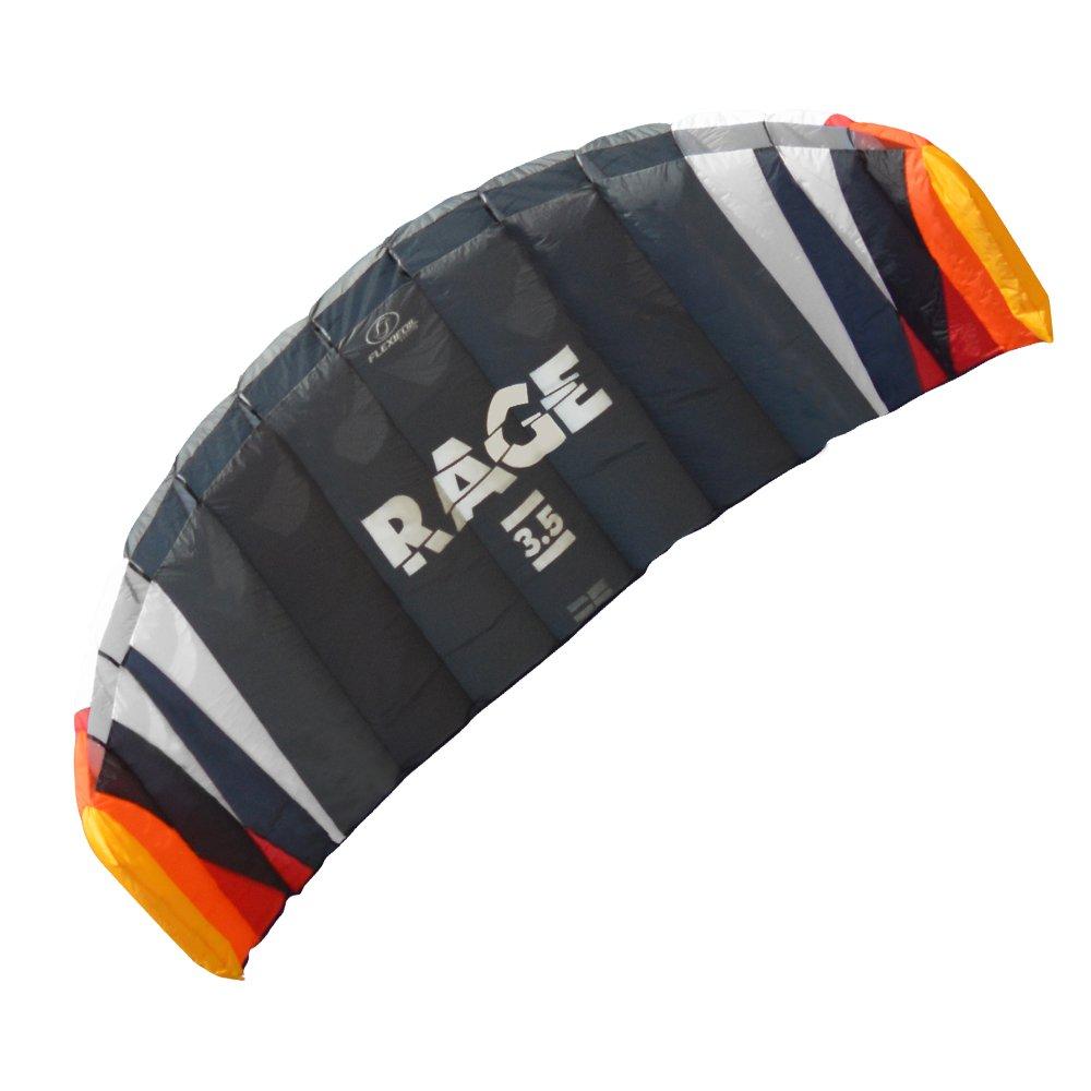 Flexifoil 1,8m2/2.5m2/3.5m2/4.7m24-Rage Sport Power Kite mit 90Tage Geld zurück Garantie. von World Record Winning-Designer von 2-zeilige und 4-Power Kites–Sicher, zuverlässig und langlebig Power Kiten, Kite Training und Traktion Kiten bestellen