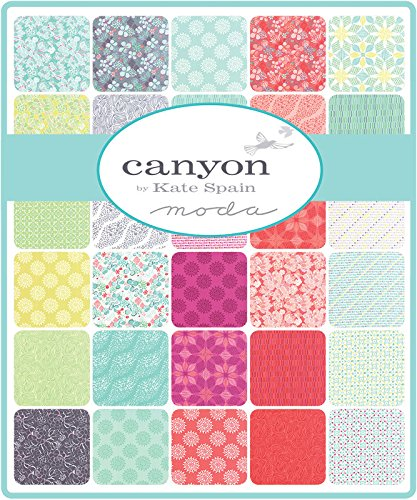 "Canyon Charm Pack By Kate Spain; 42 - 5"" Precut Fabric Quilt Squares"
