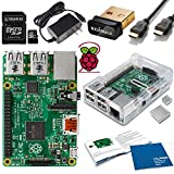 Raspberry Pi 2 Model B (1GB) Complete Starter Kit -- Includes Raspberry Pi 2 Model B-- Quick Start Guide--Clear Case--Power Supply--WiFi Dongle--Kingston 8GB Micro SD Card and Adapter--HDMI Cable and Heatsink