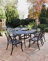 Hot Sale Home Styles 5554-338 Biscayne 7-Piece Outdoor Dining Set, Black Finish