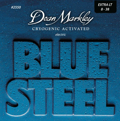Dean Markley Blue Steel Electric Guitar Strings, 8-38, 2550, Extra Light (Nanoweb Extra Light compare prices)
