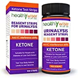 HealthyWiser Ketone Test Strips + BONUS Alkaline Food Chart PDF & Keto Recipe eBook, Professional Grade Ketone Strips for Use in Atkins Diet, Ketogenic Diet, and Paleo Diet, Urinalysis Test Strips 99% Accuracy, For Precise Ketone Measurement for Diabetics, 100ct
