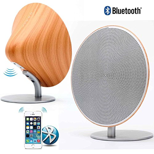 New Vintage Style Designed Wireless Speaker, Smooth Aesthetical Curve Shape, Fidelity Sound Effect, Wood Texture, Build-In Battery Bluetooth&Nfc Mini Speaker System Via Touch Contrl