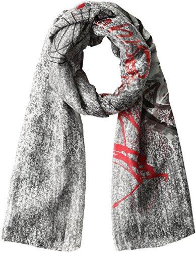 Desigual Foulard_Rectangle Adhara, Scialle Donna, Grigio (Gris Vigore 2009), Taglia Unica (Taglia Produttore: One Size)