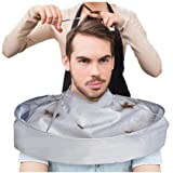 Barber Cloak, AMA(TM) Hair Cutting Cloak Gown Umbrella Nylon Hair Salon Cape Hairdresser Haircut Bib Apron (Silver)