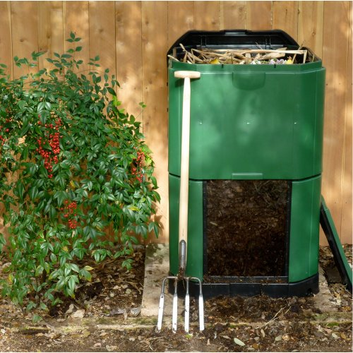 Exaco trading aerobin 400 insulated composter and self aeration system