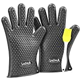 Sentima Barbecue Gloves, Extra Thick Heat Resistant Silicone Oven Mitts, Best for Grill & BBQ