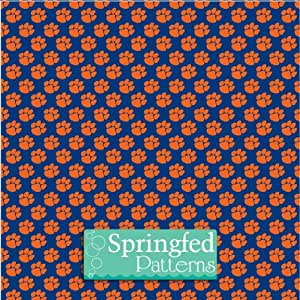 Amazon.com: Tiger Paw Pattern Navy & Orange 3 Sheets 6x6 ...