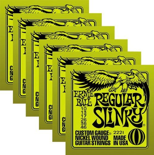 Ernie Ball Electric Guitar Strings - Regular Slinky Nickel W