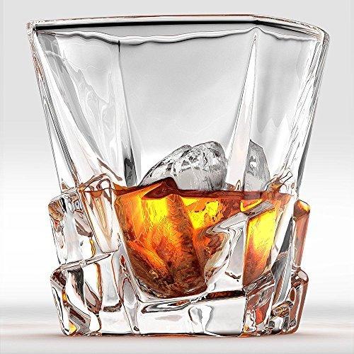 Iceberg-Set di 2bicchieri da Whisky. Perfect Whisky o Scotch di vetro.