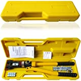 8 Ton Hydraulic Wire Crimper Battery Cable Lug Terminal Crimping Tool w/ 8 Dies