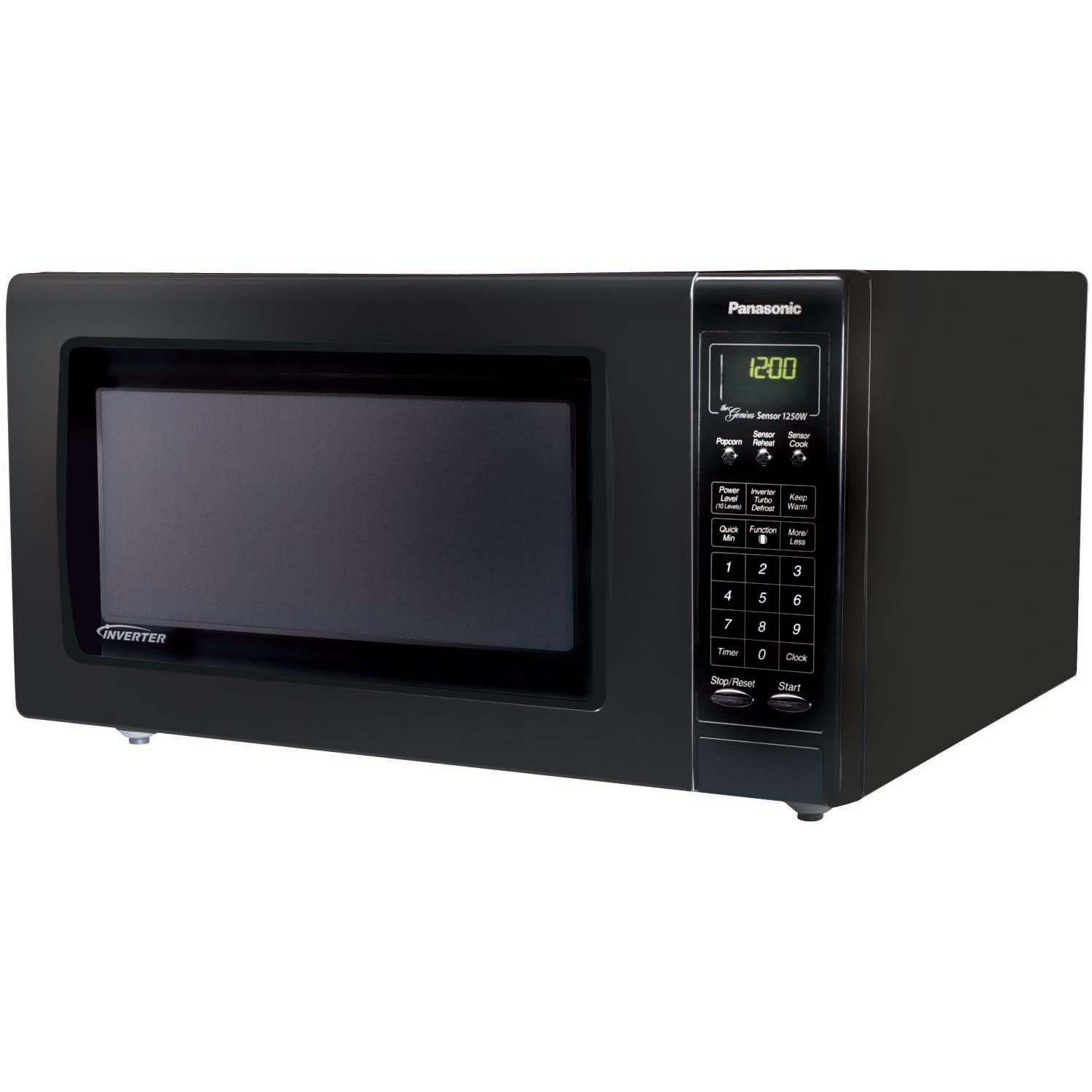 Panasonic NN-H965BF Luxury Full-Size 2.2-Cubic-Foot 1,250-Watt Microwave Oven, Black