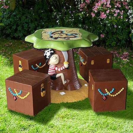Children's Pirate Table & Chair set - Outdoor Furniture
