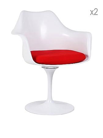 Silla TULIP ARMS -White- Inspiración Tulip de Eero Saarinen Color Sin color