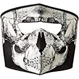 ZANheadgear Neoprene and Skull Glow in the Dark Face Mask (Black and White)