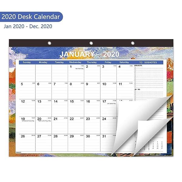 """Desk Calendar 2019 Wall Calendar Large Desktop Monthly 17/""""x11/"""" Daily Planner"""