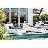 Sonnenliege weiss Outdoor Sitzmöbel Royal 180x75cm skin-white Sitzsackliege Gartenmöbel