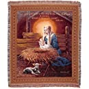 Simply Home Madonna and Child Tapestry Throw Blanket