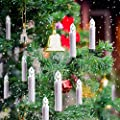 Christmas Tree Candle Light - Window Candles Flameless Multi 12 color Taper Candles Flickering Votive Unscented Battery - Ivory Candles Tealight Remote Timer Clip Gift Party Wedding Decoration